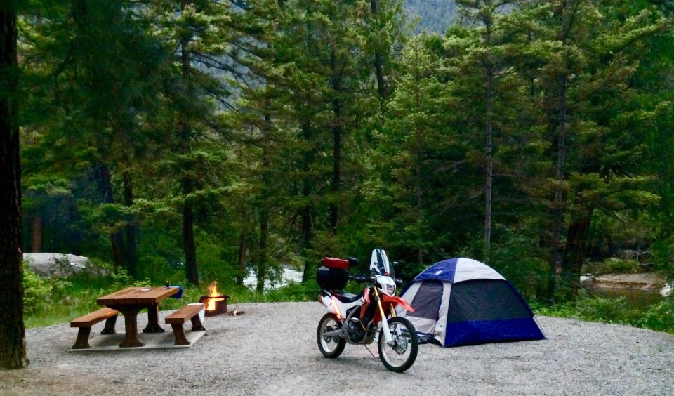 Camping along the Similkameen River in British Columbia