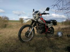 Old inappropriate off road bike - good fun though