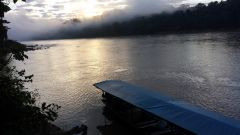 Sunrise over the Beni river, Bolivia