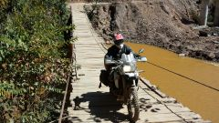 Suspension bridge near Guanay, Bolivia