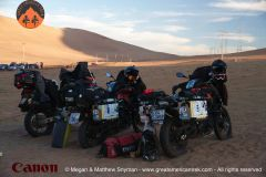 Our bikes at the Dakar