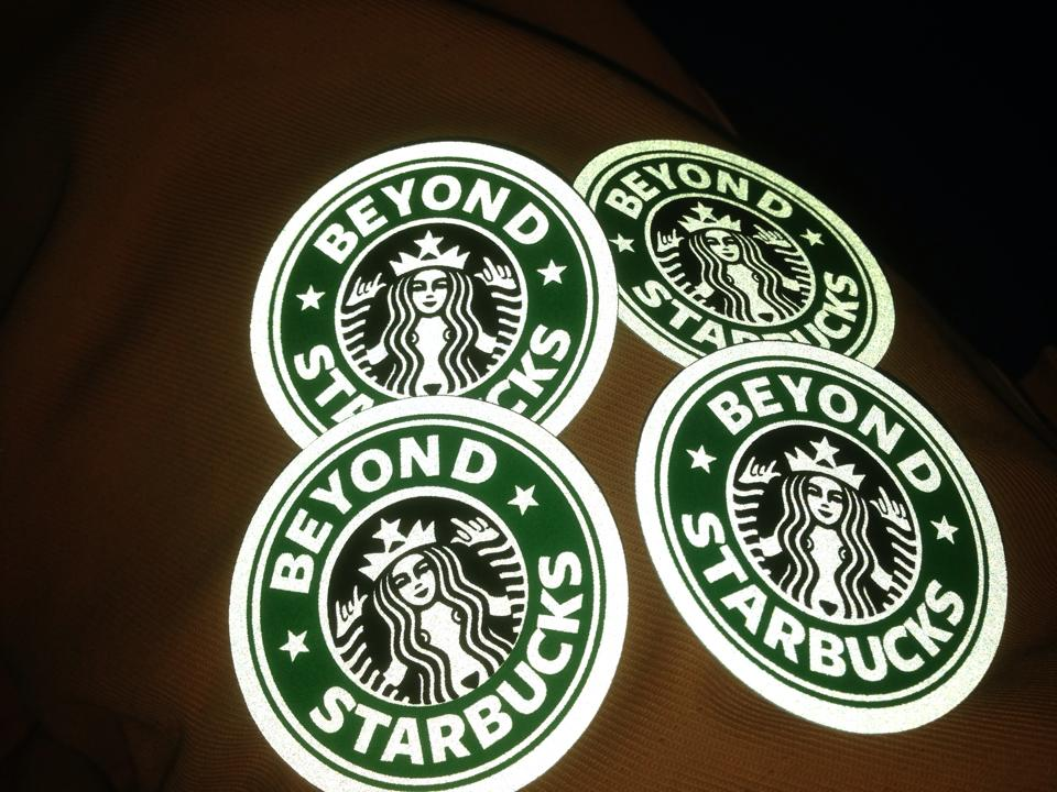 Beyond Starbucks stickers