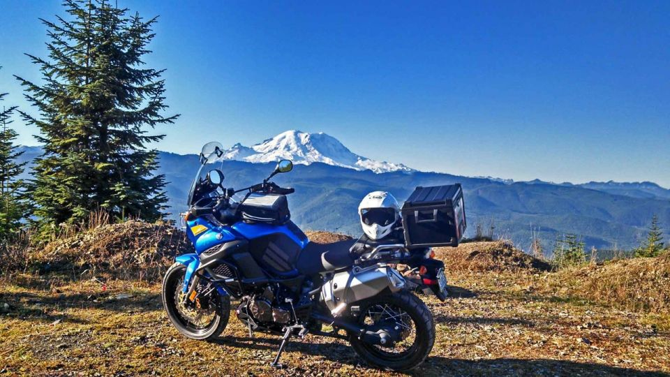 Rainier And bike On Pyramid