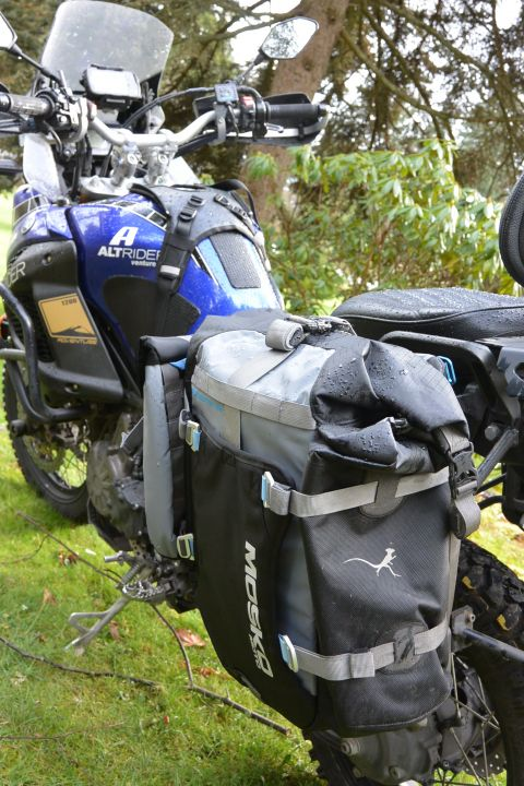 Mosko Moto bags on Mikes bike