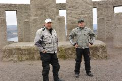 Two Tenere guys at Stonehenge