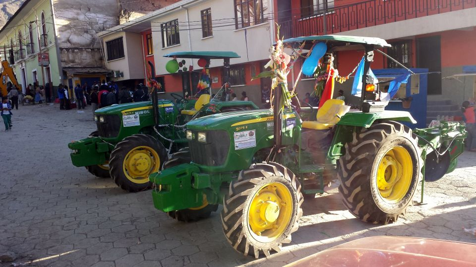 Farm equipment day in the Sorata town square
