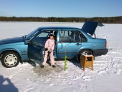 Icefishing from the car