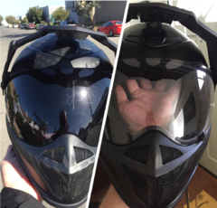 Klim Krios Karbon with Transitions Face Shield
